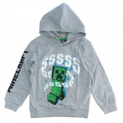 Kids Sweater Minecraft Grey 6-12 year (43785G)
