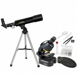 BRESSER Compact Telescope and Microscope Set (9118200) National Geographic