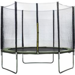 AMIGO 305 cm trampoline - dark green (with safety)