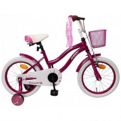 AMIGO Flower 16 Inch Girls bicycle - Purple (342625)