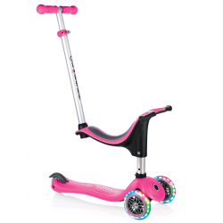 Globber Evo 4 In 1 Scooter With Lights - Pink (452-110)