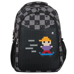 Pixie crew Creative Backpack GREY CHEQUERED (PXB-16-07) Backpacks Τεχνολογια - Πληροφορική e-rainbow.gr