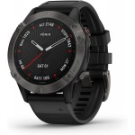 Garmin Fenix 6 Sapphire 47mm Carbon DLC with Black Band (010-02158-11) Smart Watches Τεχνολογια - Πληροφορική e-rainbow.gr