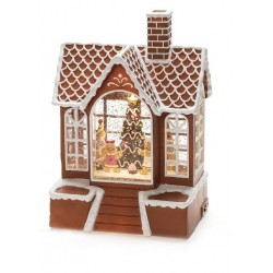 Konstsmide Gingerbread House Magical Glitter Christmas decoration