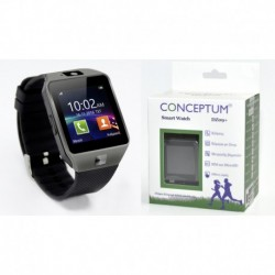 CONCEPTUM Smartwatch DZ09+  Black (GR MENU) Various Τεχνολογια - Πληροφορική e-rainbow.gr