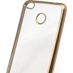 Θήκη TPU inos Xiaomi Redmi Note 4/ 4X (Dual SIM) Electroplate Ultra Slim 0.3mm Χρυσό XIAOMI Τεχνολογια - Πληροφορική e-rainbow.gr